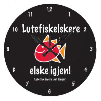 Lutefisk Lovers Last Longer Wall Clock