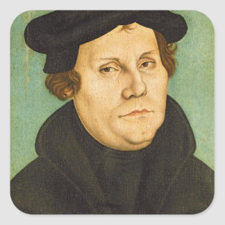 Luther as Professor, 1529 Square Sticker