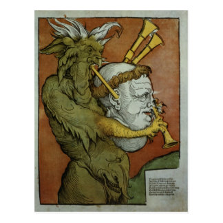 Luther as the Devil's Bagpipes, c.1535 Postcard