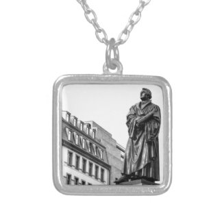 Luther Martin sculpture Silver Plated Necklace