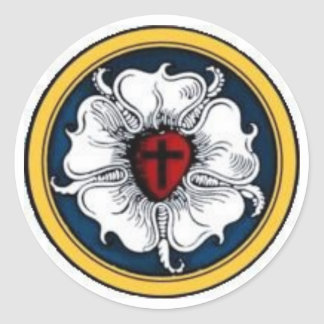 Luther Rose Round Sticker