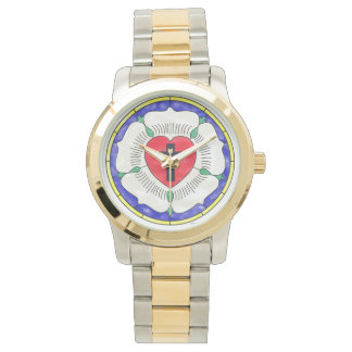 Luther Seal Stained Glass Two-Tone Mens Watch