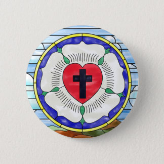 Luther Seal Stained Glass Window 2 Inch Round Button