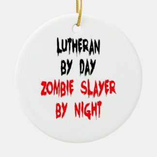 Lutheran Zombie Slayer Ceramic Ornament