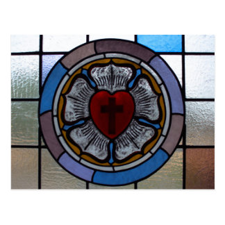 Luther's Rose Window Post Card - St. Paul Lutheran