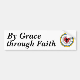 Luther's Seal, By Grace, through Faith Bumper Sticker