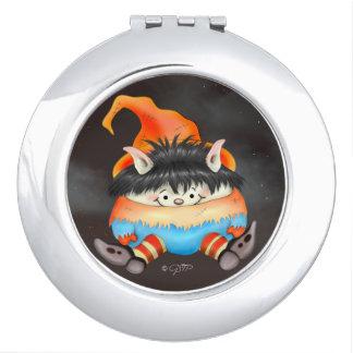 LUTIN ALIEN CARTOON compact mirror Round