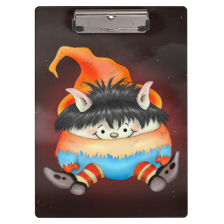 LUTIN ALIEN HALLOWEEN CARTOON Clipboard