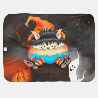 LUTIN HALLOWEEN CARTOON BABY BLANKET