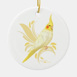 Lutino Cockatiel Ceramic Ornament