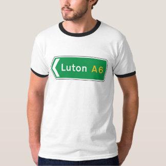 Luton, panneau routier BRITANNIQUE T-shirt