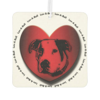 Luv-A-Bull American Bulldog Pit Bull Heart Car Air Freshener
