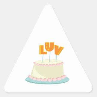 Luv Cake Triangle Stickers
