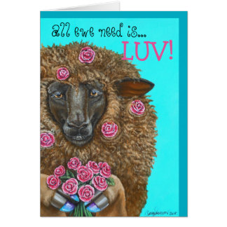 Luv Ewe by TACS greeting card