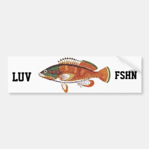 Luv Fshn Bumper Sticker