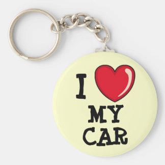 Luv My Car! Basic Round Button Keychain