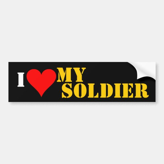 luv my soldier bumper sticker