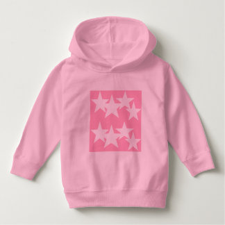 Luv U  ❤️ Luv Me stars on pink hoodie by DAL