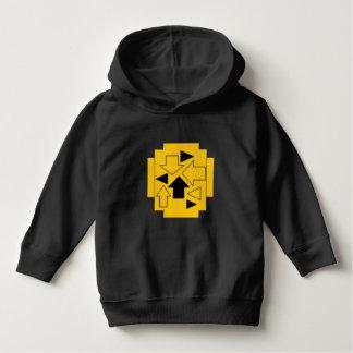 Luv U  ❤️ Luv Me toddler arrows on black hoodie