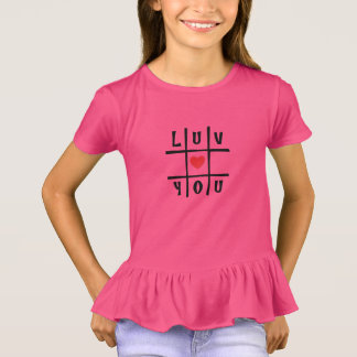 luv you ruffle tee by DAL