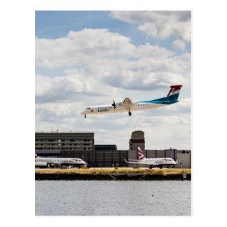 Lux Air London City Airport Postcard