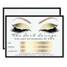 Lux Lashes White Gold Gold Makeup Certificate Gift Card