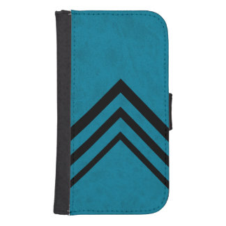 Lux Ocean Blue Color Velvet Personalize or Classic Galaxy S4 Wallets