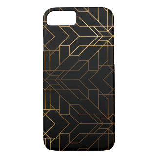 Luxe black and gold Aztec graphic case