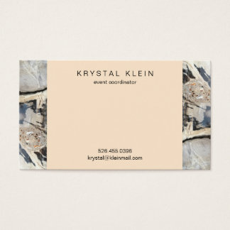Luxe Black & Cream Business Cards