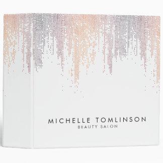 Luxe Colorful Confetti Rain Pattern Vinyl Binders