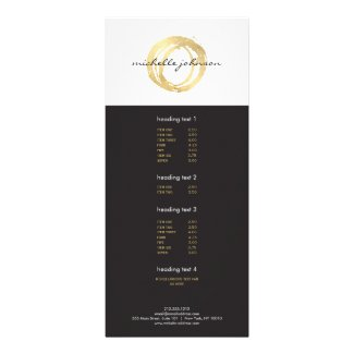Luxe Faux Gold Painted Circle Designer Logo
