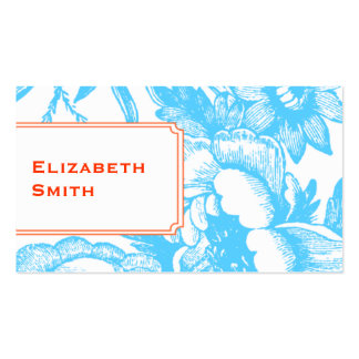 Luxe Floral Blue Business Card
