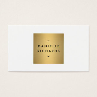 Luxe Glamour Gold and White Business Card