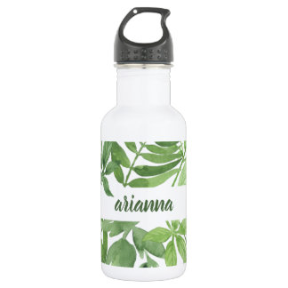 Luxe Leaves | Green Botanical Frame 532 Ml Water Bottle