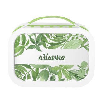 Luxe Leaves | Green Botanical Frame Lunch Box