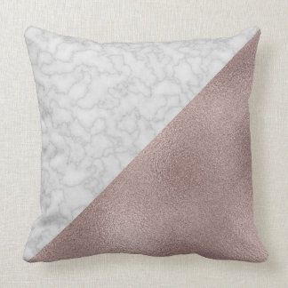 Luxe Metallic & Marble [HQ] Throw Pillow