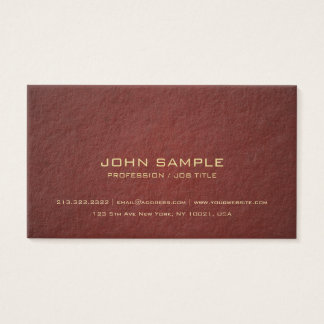 Luxe Modern Professional Elegant Color Thick Business Card