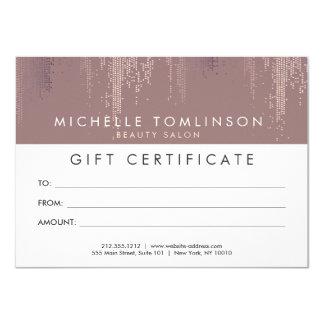 Luxe Rose Gold Confetti Rain Pattern Gift Card