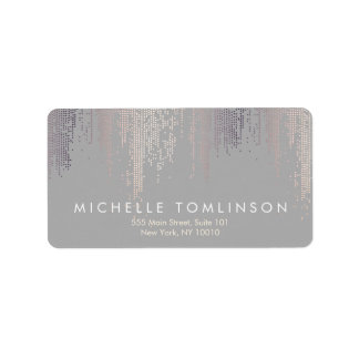 Luxe Shimmer Look Confetti Rain Pattern Gray Label