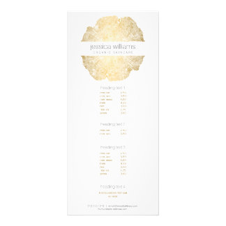 Luxe Wood Effect Art Personalized Rack Card