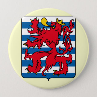 Luxembourg, Belgium 4 Inch Round Button