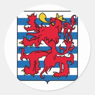 Luxembourg, Belgium Classic Round Sticker