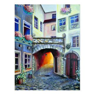 Luxembourg - Bohemian illustration Painting Postcard