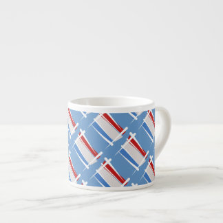Luxembourg Brush Flag Espresso Cup