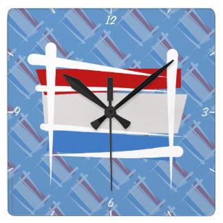 Luxembourg Brush Flag Wallclocks