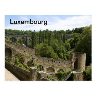 Luxembourg City Ruins Postcard