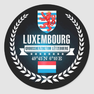 Luxembourg Classic Round Sticker