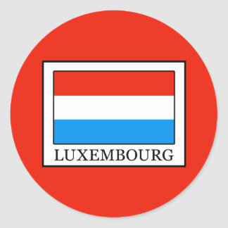 Luxembourg Classic Round Sticker