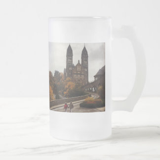 Luxembourg Clervaux Castle Sightseeing Walk Frosted Glass Beer Mug