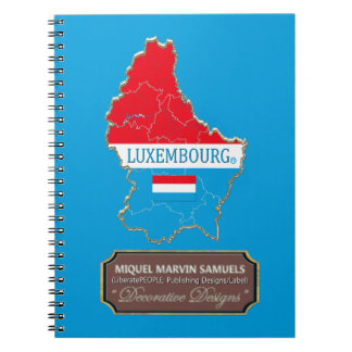 Luxembourg country Flag Colors Modern Notebook